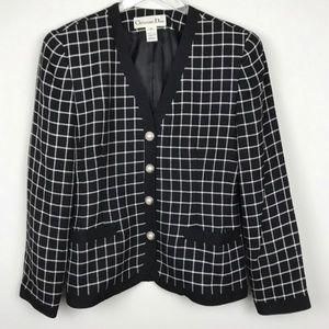 Christian Dior Windowpane Blazer/Jacket